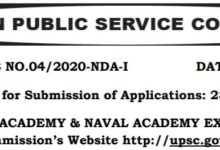 Photo of UPSC NDA-1 Online Application Form 2020 -Registration Procedure Eligibility