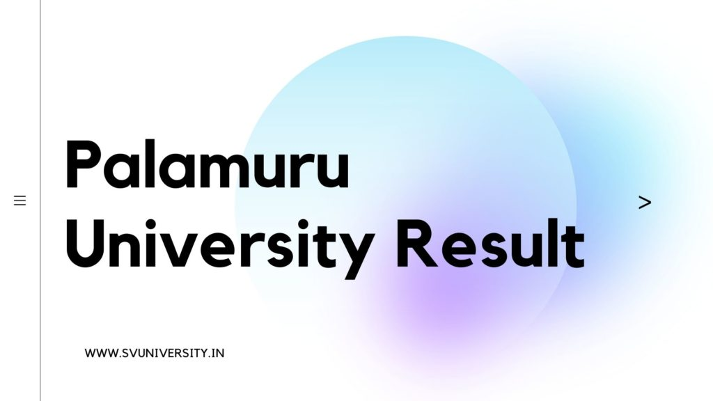 Palamuru_University_Result