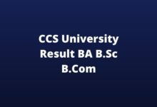 Photo of CCS University Result 2020 (Released) CCSU BA B.Sc B.Com Result Download