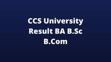 Photo of CCS University Result 2020 (Released) CCSU BA B.Sc B.Com Result Download