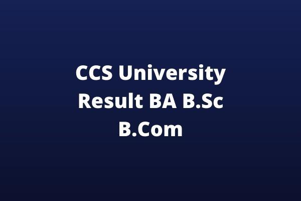 CCS-University-Result-BA-BSc-BCom