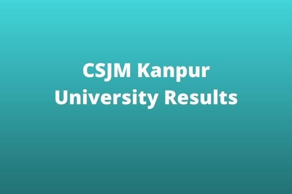 CSJM-Kanpur-University-Results