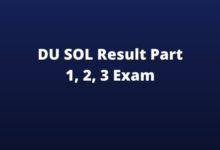 Photo of DU SOL Result 2020 (Released) BA BSc BCom Program Result