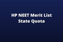 Photo of HP NEET Merit List 2020 (Today) State Quota Rank List Date