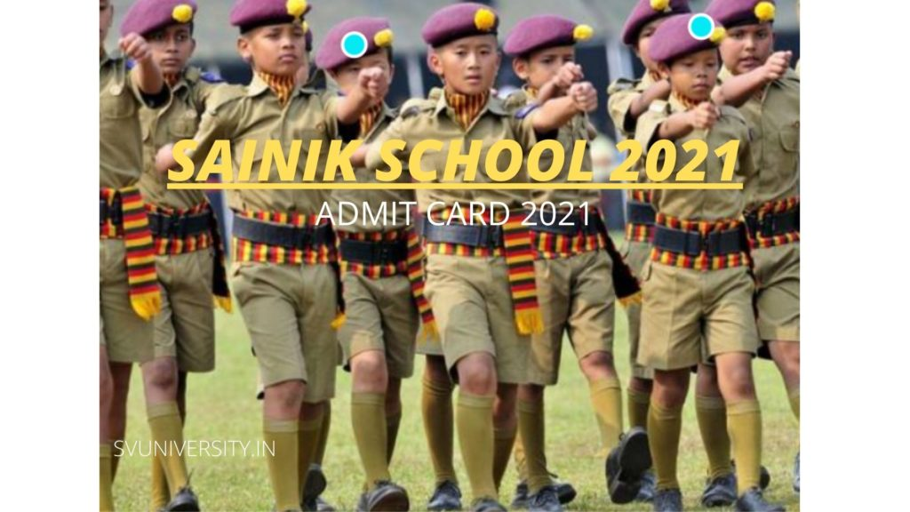 Sainik School Admit Card