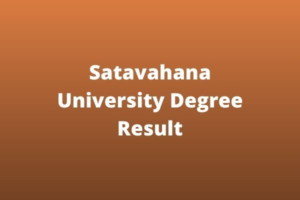 Satavahana-University-Degree-Result