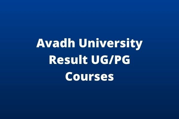 Avadh-University-Result-UG_PG-Courses