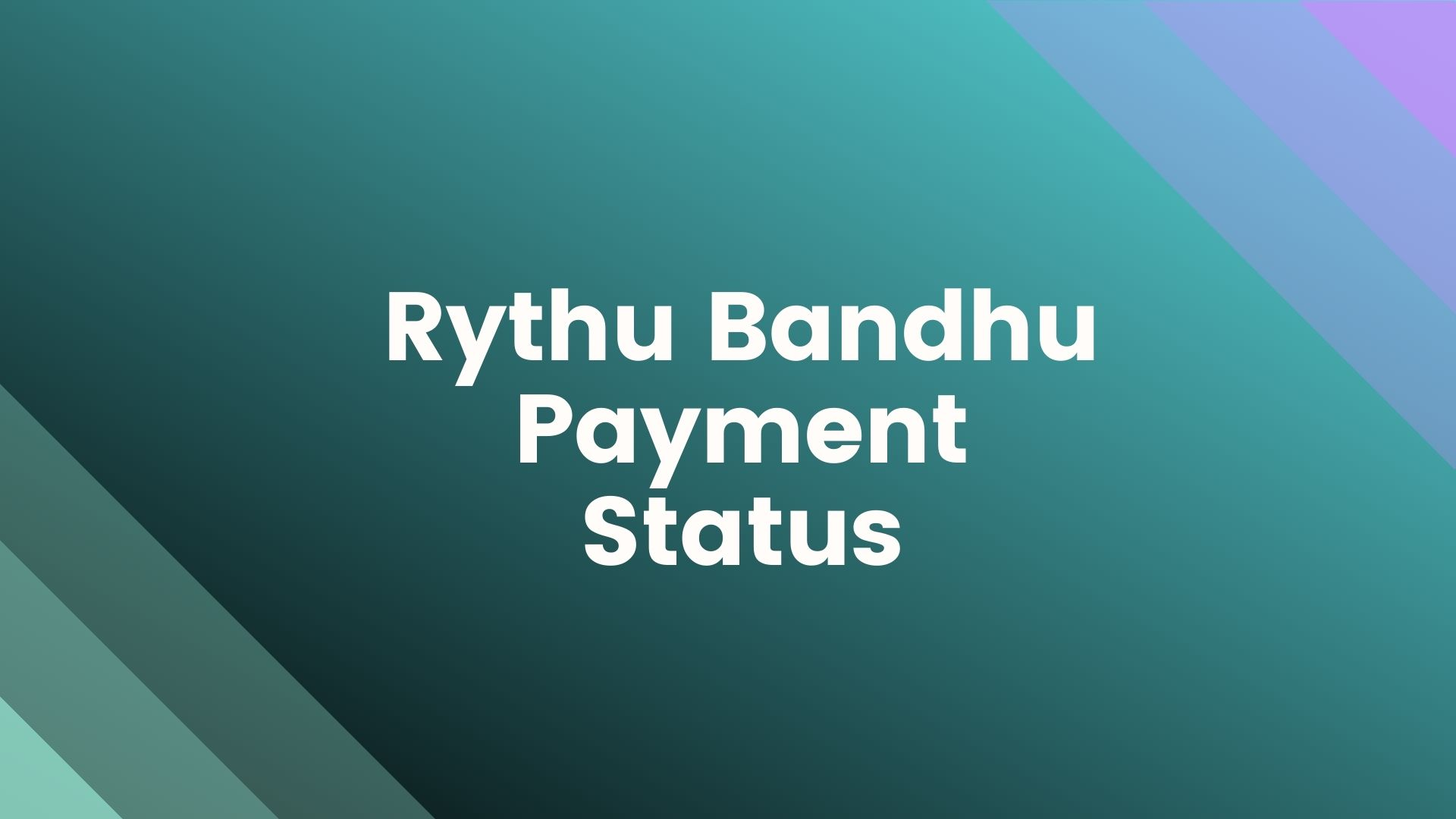 Rythu-Bandhu-Payment-Status