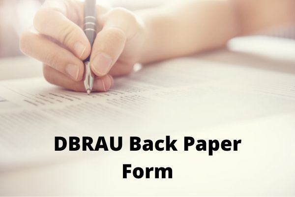 DBRAU Back Paper Form