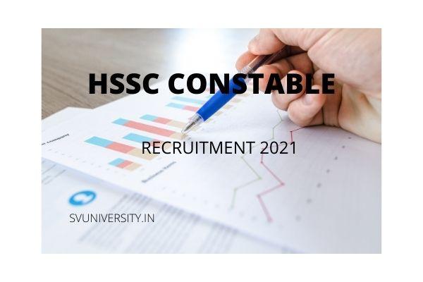 HSSC Haryana Police Constable