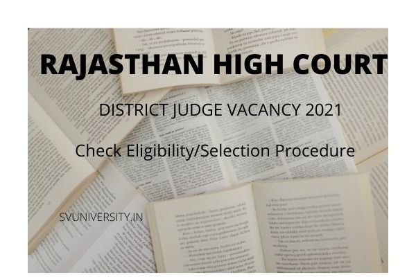 Rajasthan-HC-District-Judge-Online-Form