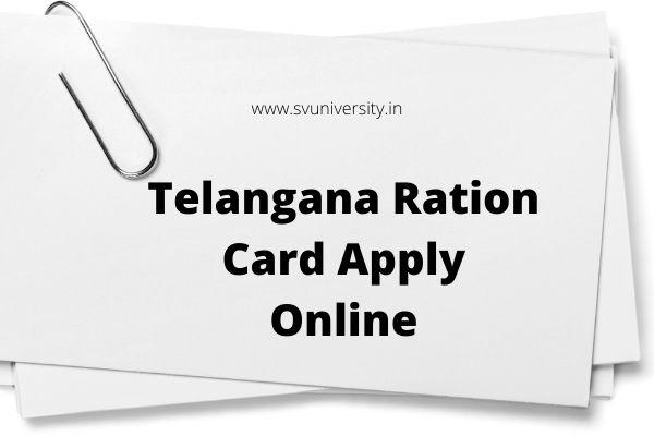 Telangana Ration Card Status Apply Online