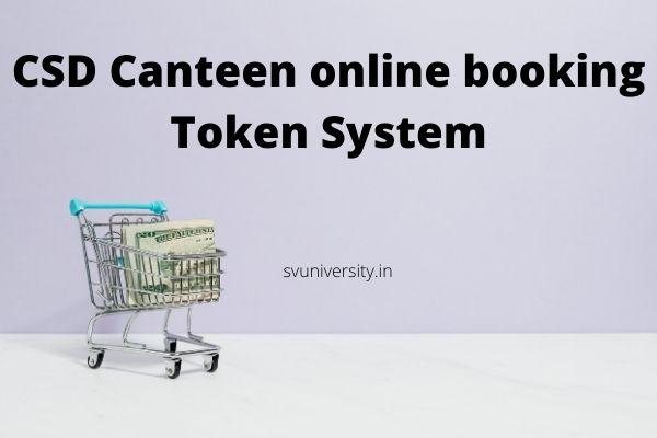 CSD Canteen Online Booking