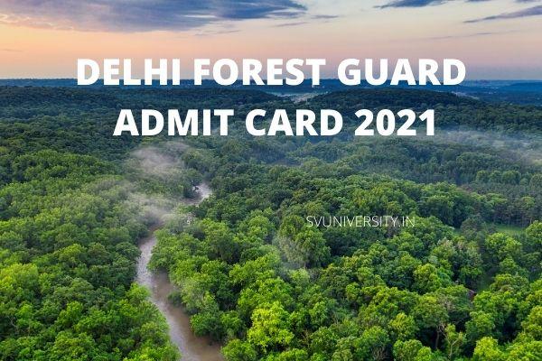 Delhi-Forest-Guard-Admit-Card
