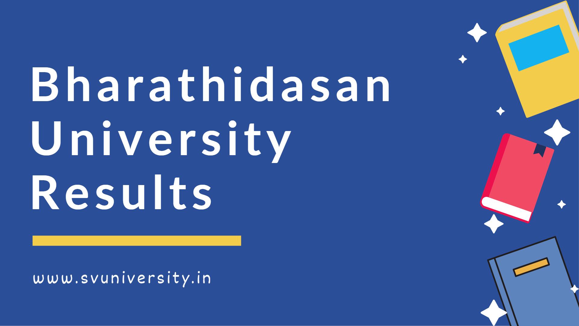Bharathidasan University Results 2021