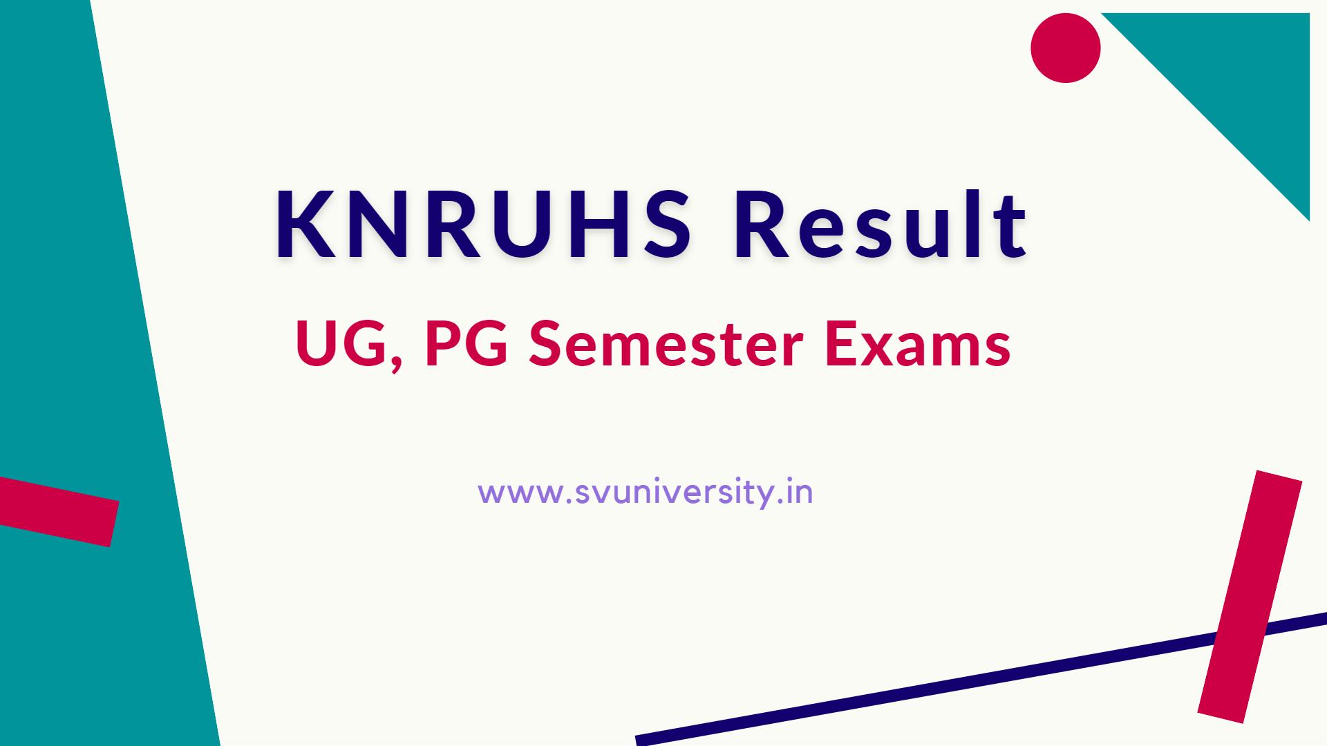 KNRUHS Result 2021