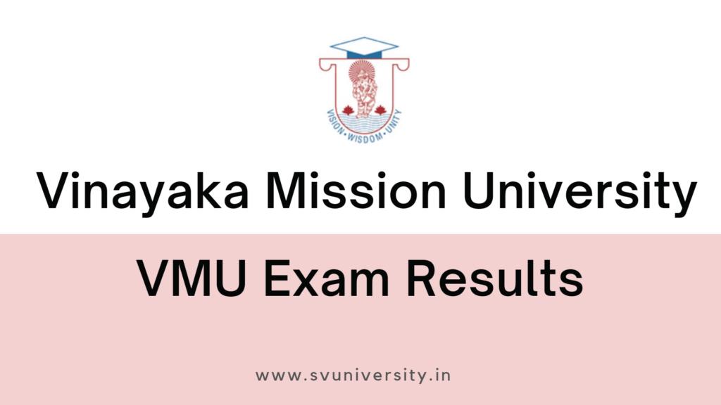 VMU Exam Results 2021