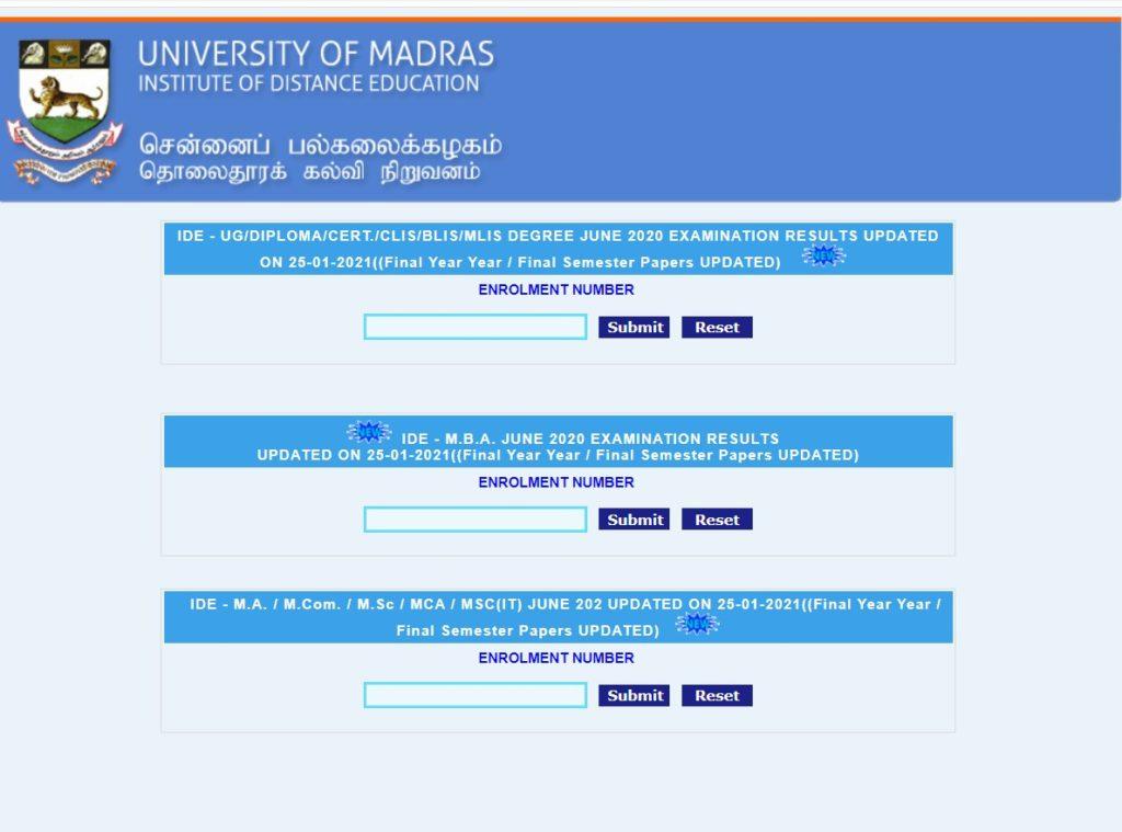 check-madras-university-results